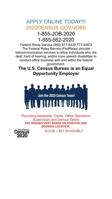 Census Bureau job opportunities